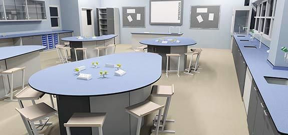 traditional school laboratory furniture island bench