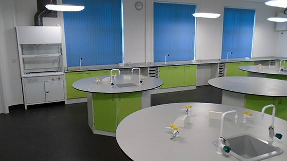 primary school science laboratory classroom using octagons