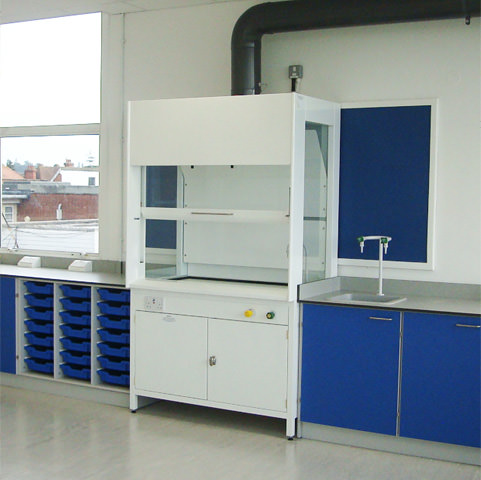school ducted fume cupboard