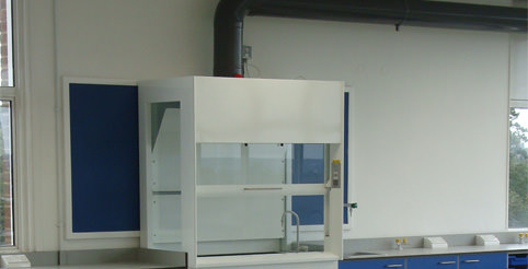 integrated fixed school fume cupboard
