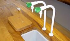 iroko worktops with sink lids and cutouts