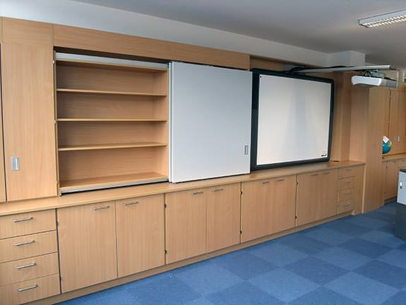 teacher walls | storage and media in one solution