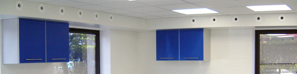 heating and cooling duct system in classroom