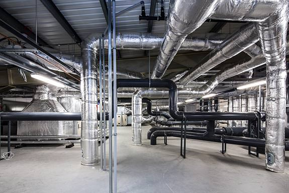 heating and extract plant room