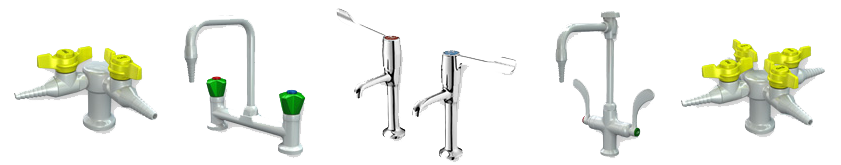 interfocus laboratory taps from broen, watersaver and brownall