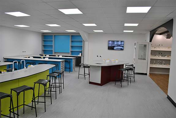 school furniture showroom for clients